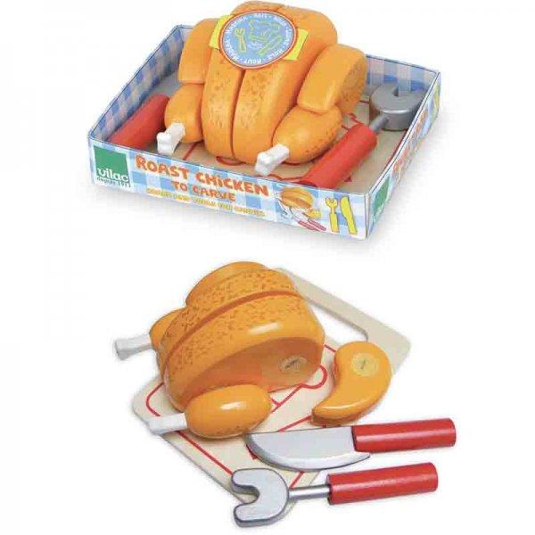 Дървена играчка печено пиле