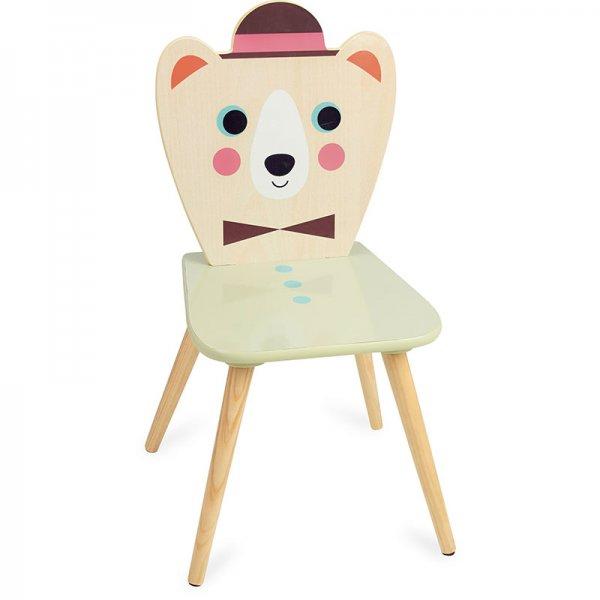 Дървено столче мече