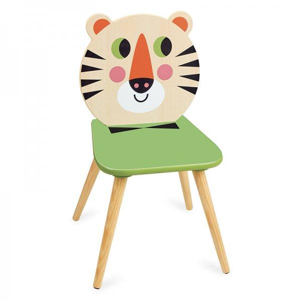 Дървено столче тигър