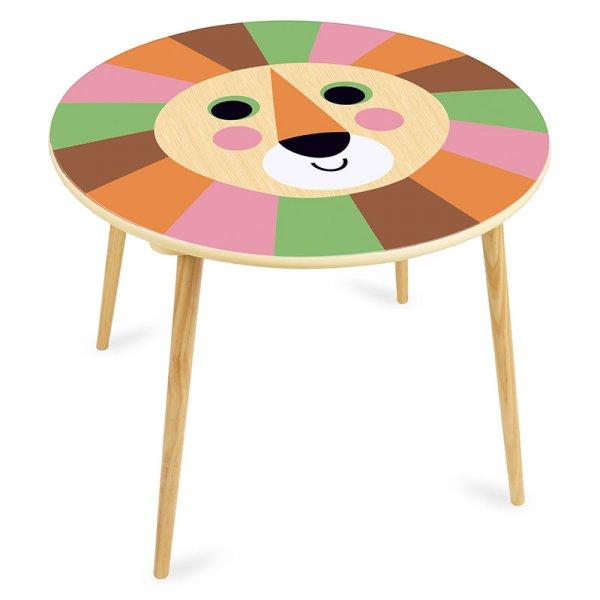 Дървена маса лъвче