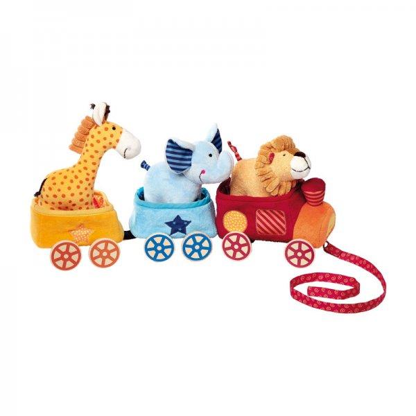 Мека играчка влакче сафари