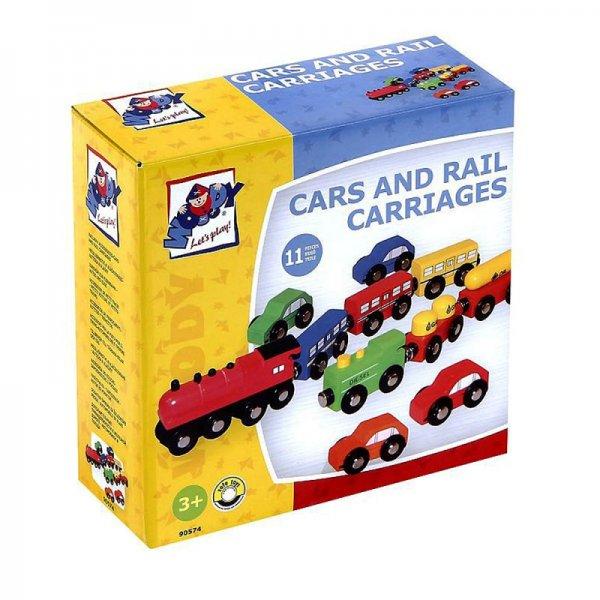 Дървени коли и влакчета