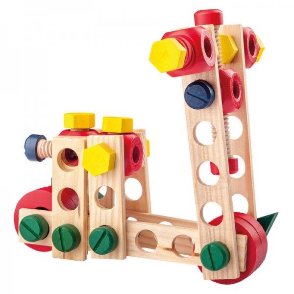 Дървен конструктор - 100 части
