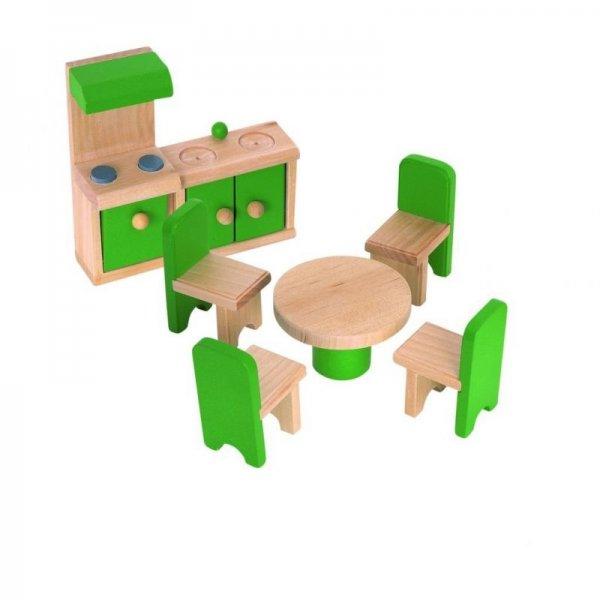 Мебели за къща за кукли - кухня с трапезария