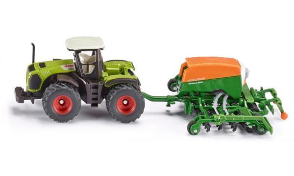 Играчка трактор Claas с редосеялка