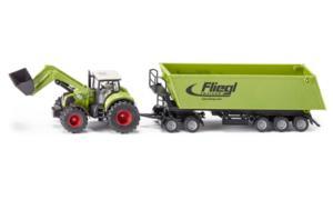 Трактор Claas Axion 850 с преден товарач и ремарке