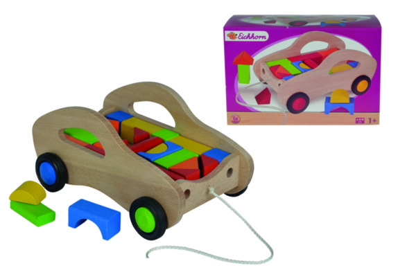 Кола за дърпане с кубчета