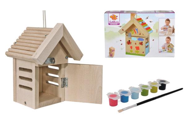 Къщичка за птици за оцветяване - калинки
