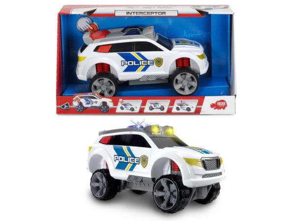 Полицейска кола бъги със светлини и звуци