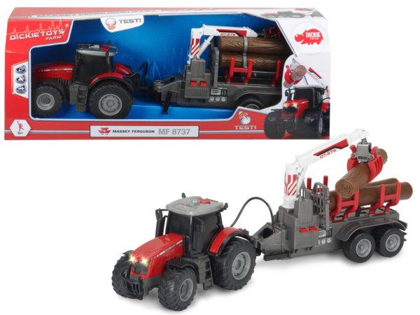 Трактор с ремарке - 37 см.
