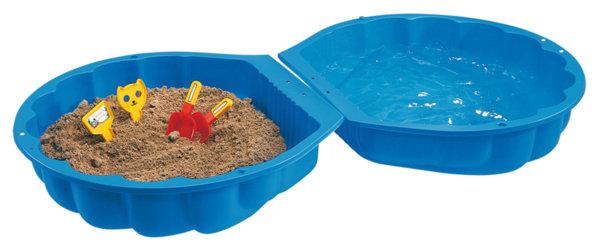 Пясъчник мида с капак - син