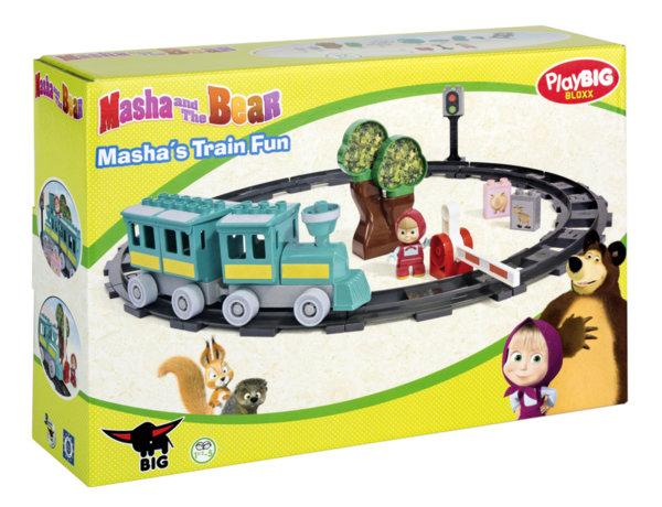 Маша и Мечока - Влак с релси