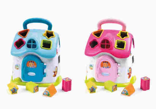 Детска играчка къщичка сортер със звук и светлина