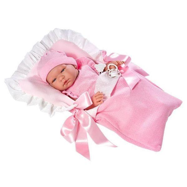 Кукла - бебе Мария с розаво чувалче