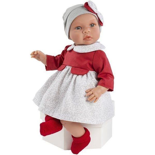 Кукла - бебе Лея с червена рокля