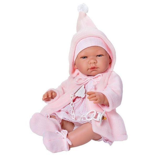 Кукла - бебе Мария с розаво палто