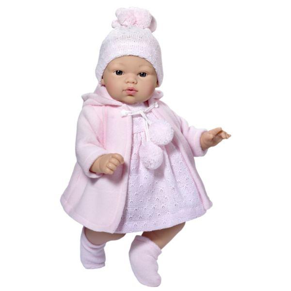 Кукла - бебе Коке с плетена рокля