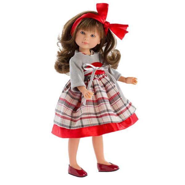 кукла Силия с карирана рокля
