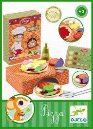 Дървена забавна игра - Направи си пица