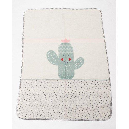 Бебешко одеяло 75 х 100 см Panda Кактус