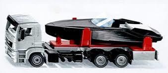 Играчка камион с моторна лодка