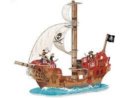 Пиратски кораб от картон