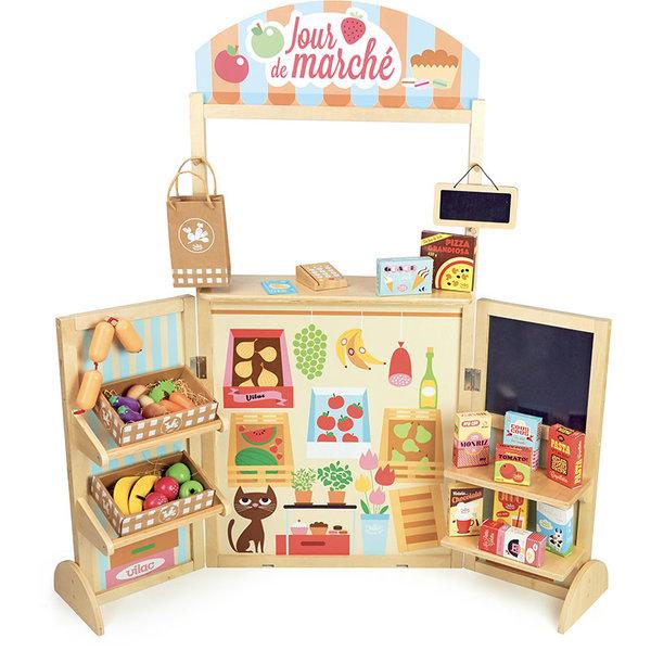 Дървена пазарска маса