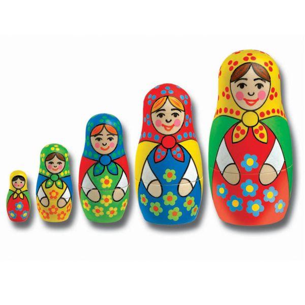 Kомплект за оцветяване - Дървени матрьошки