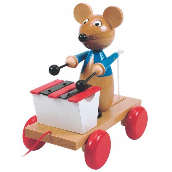 Играчка за дърпане - Мишка с ксилофон