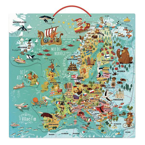 Магнитна карта на Европа