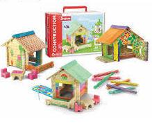 Дървен конструктор - къща за оцветяване