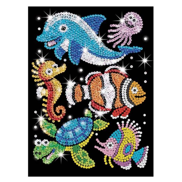 Изкуство с пайети - Морски свят