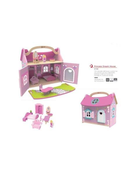 Дървена къщичка за игра – Принцеси