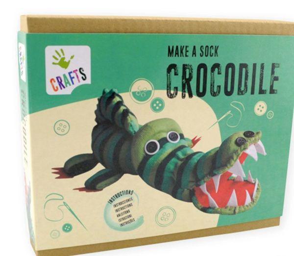 Направи сам - Крокодил от чорапче