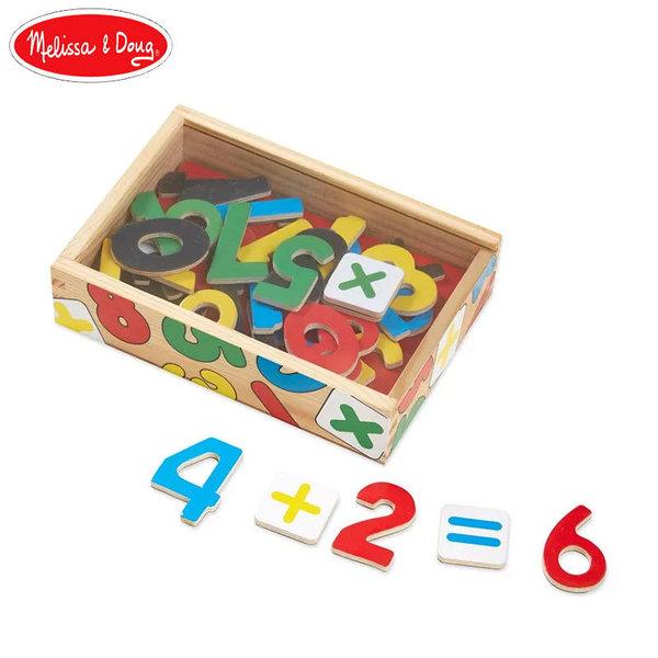 Дървени магнитни цифри