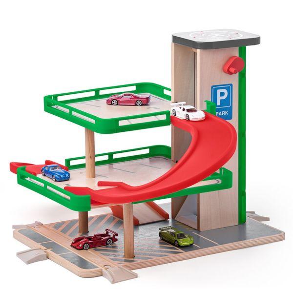 Дървен гараж с колички Siku