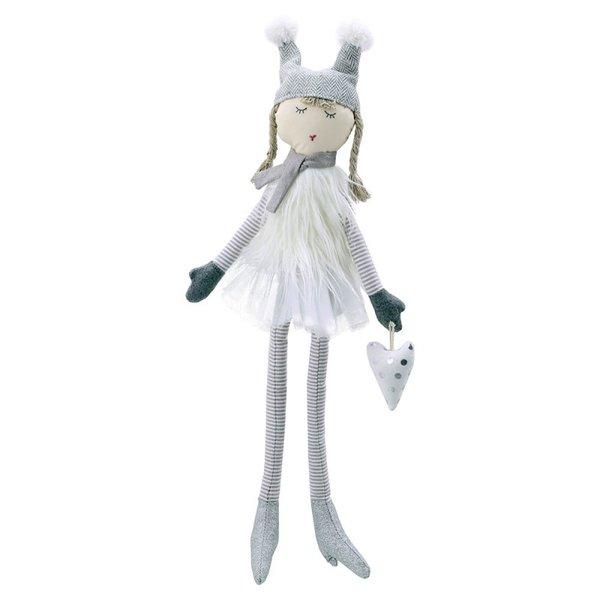 Парцалена кукла Бела в бяло 58 см.