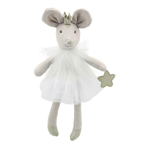 ПаПарцалена кукла - Мишчица с бяла дрешка 32 см.