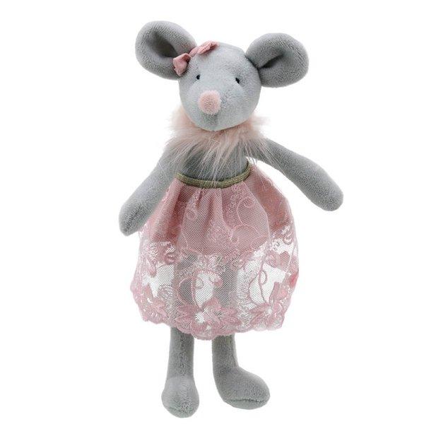 Парцалена кукла - Мишчица  с розова дрешка  32 см.