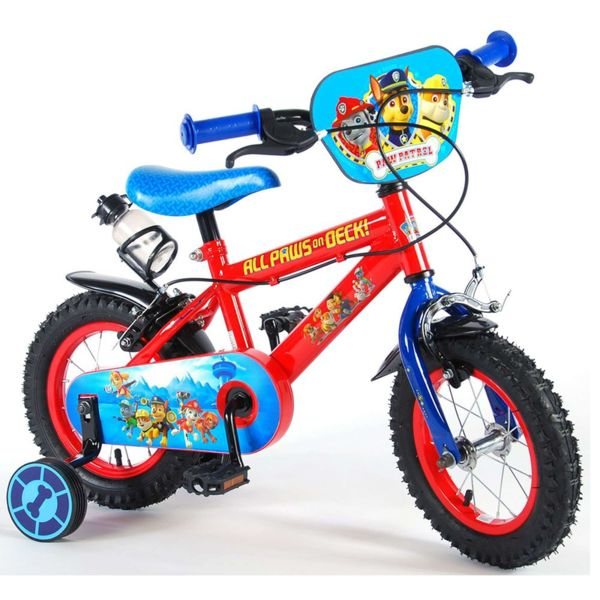 Детско колело с помощни колела Пес Патрул - 12 инча