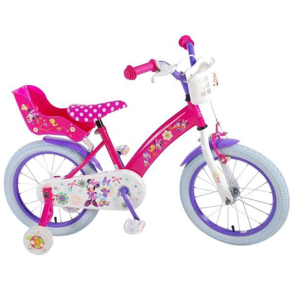 Детско колело с помощни колела Мини Маус - 16 инча