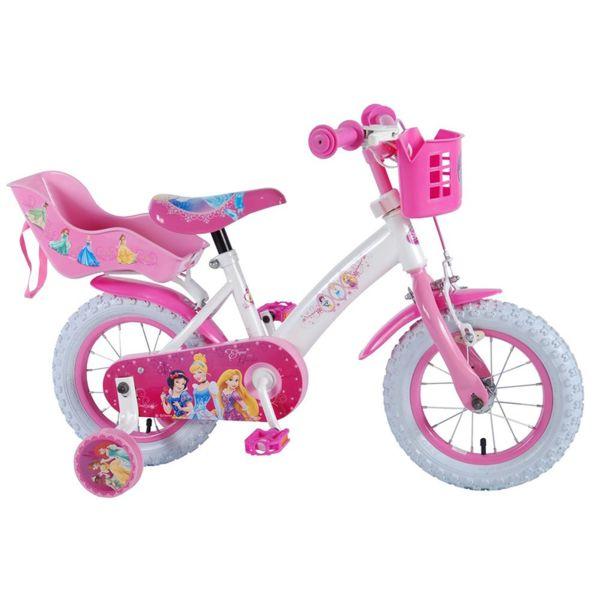 Детски велосипед с помощни колела Принцеси - 12 инча