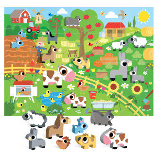 Пъзел Веселата ферма -  - Монтесори