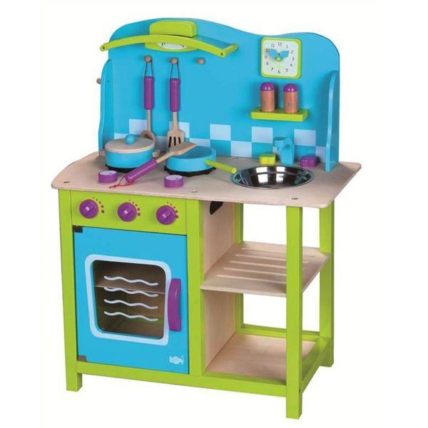 Детска дървена кухня - Морски бриз