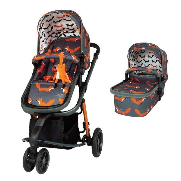 Бебешка количка Giggle 3 Charcoal Mister Fox