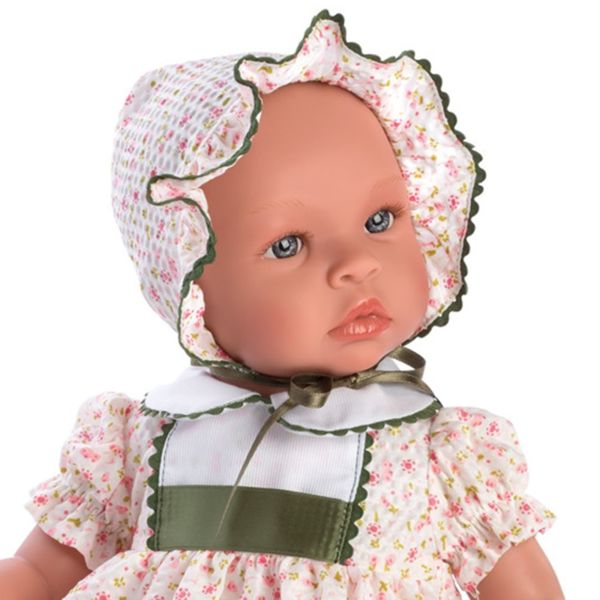 Кукла-бебе Лея с рокля на цветя