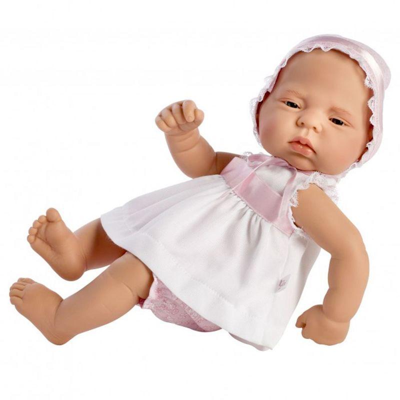Кукла-бебе Лучия с бяла рокличка