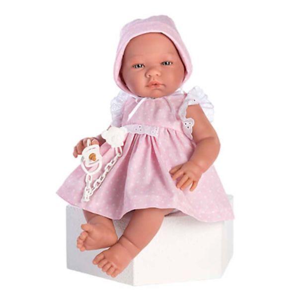 Кукла-бебе Мария с розова рокля