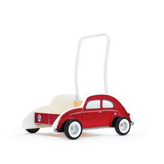 Дървена количка за прохождане Червен Бийтъл