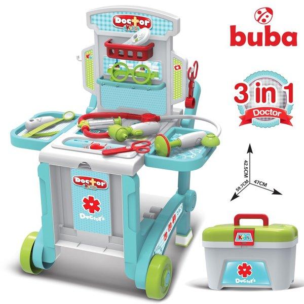 Детски лекарски комплект - Куфар 3 в 1, Buba 008-929